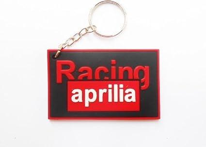 Keychains llavero – Aprilia – Black Red – MotoGP – Motocross – Motorcycle – Motorbike – Key Ring – Rubber Keyring – Portallaves