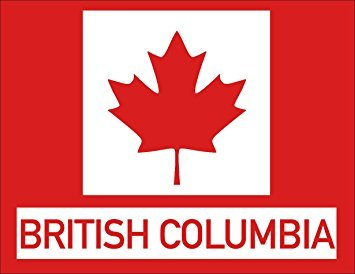 MAGNET Red Maple Leaf Rectangle BRITISH COLUMBIA Magnet(canadian canada province) 3 x 4 inch