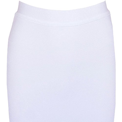 HLBandage Pure Women Bandage Knee Set Piece Weiß 2 Color Dress Length SIIxwTrq