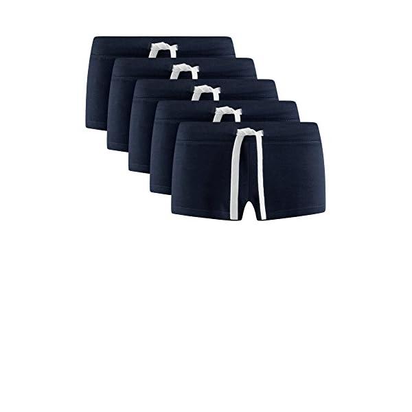 oodji Ultra Donna Pantaloncini Basic in Maglia (Pacco di 5) 6 spesavip