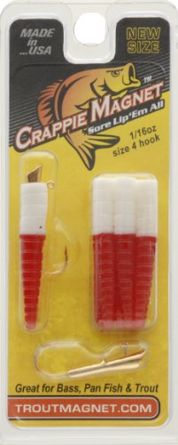 Trout Magnet Lures (Trout Crappie Magnet, Red White)