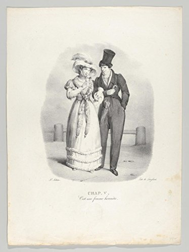 Fine Art Print | Victor Adam | Chap. V: C'est une Femme honnête (She is an Honest Woman) | Vintage Wall Art | 18in x 24in ()