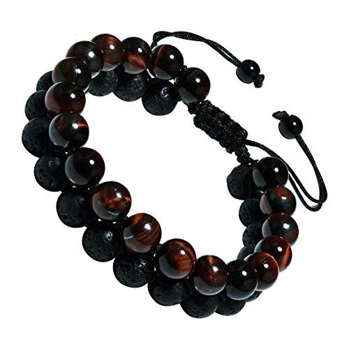 CAT EYE JEWELS Adjustable Beads Bracelet 8mm Double Layer Natural Energy Healing Stone Bracelet B004