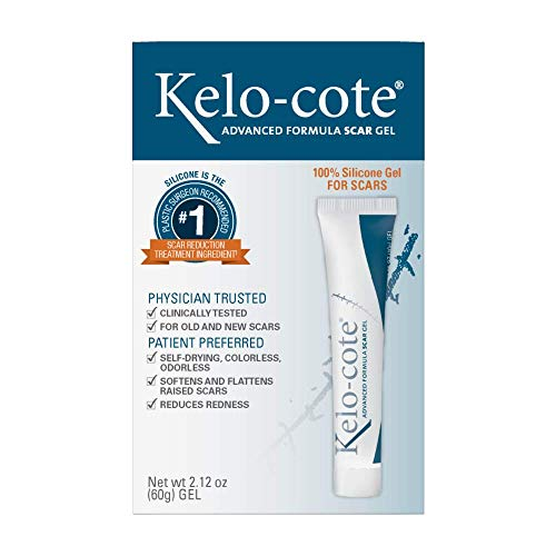 Kelo-cote Advanced Formula Scar Gel, Improves the Appearance of Old and New Scars, 60 Grams