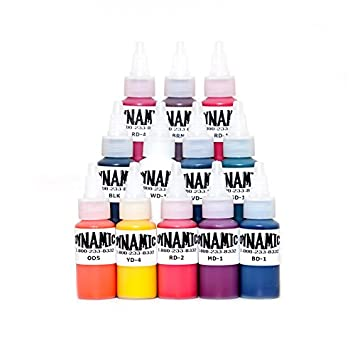 Amazon.com: Dynamic Color tattoo ink set of all 1 oz colors Made in ...