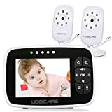 "Home Video Baby Monitors with Two Camera and Audio 3.5"" Large LCD Screen"
