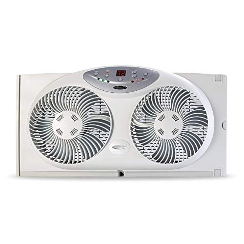 Bionaire BW2300-N Twin Reversible Airflow Window Fan with Remote Control (Certified Refurbished)