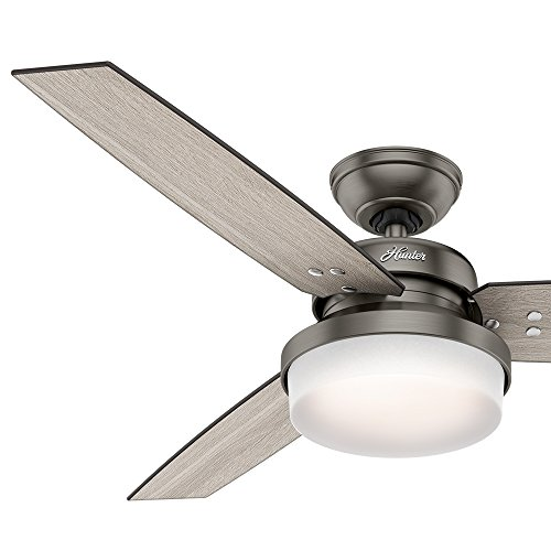 "Hunter Fan 52"" Brushed Slate Contemporary Ceiling Fan With"