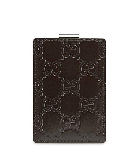 Gucci Business Card Holder (Gucci Signature Guccissima Leather Money Clip, Brown 115268)