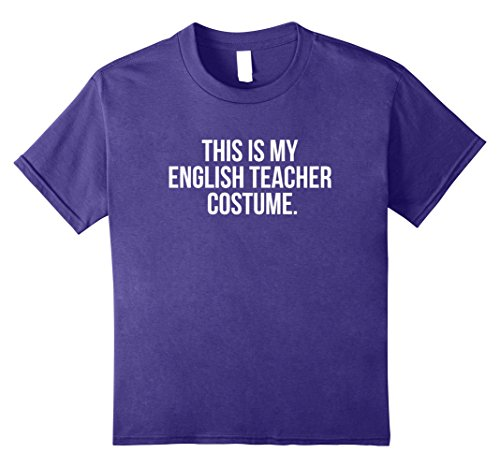 Simple Costumes For College Students (Kids This is my English Teacher Costume Funny Halloween T Shirt 8 Purple)