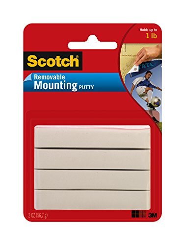 - Scotch Brand 860 Adhesive Putty Removable, 2 oz, Multicolor