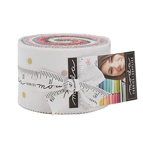 Moda Fabrics V and Co Ombre Confetti Metallic New Colors Jelly Roll 20 2.5-inch Strips10807JJRMN by Moda Fabrics