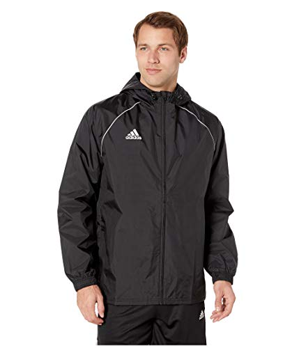 adidas Men's Core18 Rain Jacket Black/White Medium
