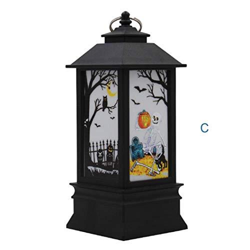Nightlight,YJYdada 1 pcs Halloween Candle with LED Tea Light Candles for Halloween Decoration Part (C)