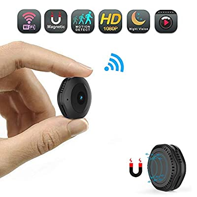 Mini WiFi Camera,CHUHE 1080P Portable Hidden Cameras Wireless Home Security Small Camera/Nanny Cam with Motion Detection/Night Vision from CHUHE