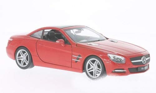 R231 Welly Mercedes SL 500 Hard Top Rouge 2012 1//24