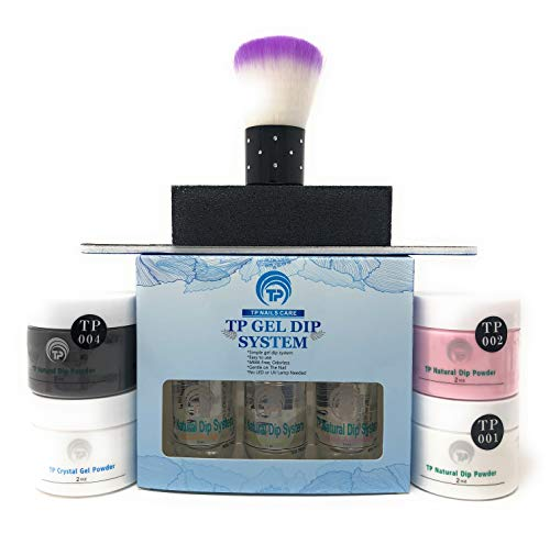 TP Gel Dip System For French Manicure Plus Black Powder Kit 2 oz. per jar. Easy to do dipping nail powder starter kit.