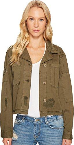 Sanctuary Women's Lieutenant J Cropped Military Jacket Fatigue XS (US 2)