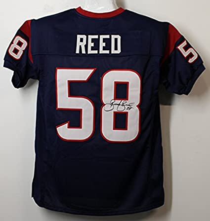 Brooks Reed Autographed Houston Texans Blue Size XL Jersey at  for sale