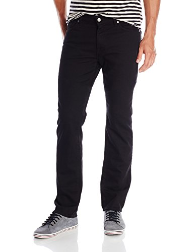 7 For All Mankind Men's Slimmy Slim Straight-Leg Jean, True Black, 34x34 (Jeans Seven For All Zip Fly Mankind)