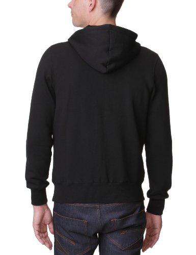 Zip Sweat Fit Krafty Homme Lonsdale Noir Sweatshirt Slim shirt Hooded schwarz wxqUpfBI