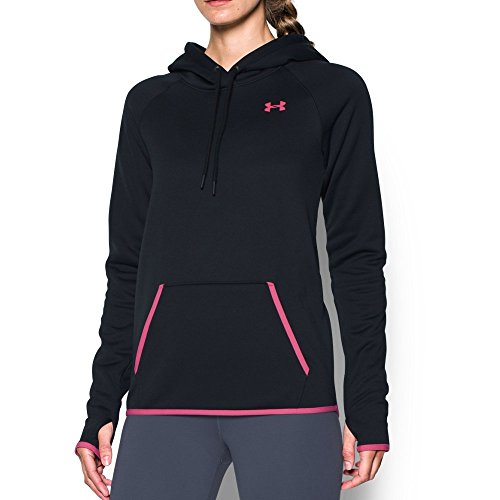Under Armour Women's Storm Armour Fleece Icon Hoodie, Black (002)/Pink Sky, (Under Armour Pink Jacket)