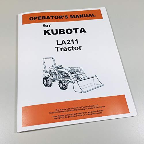 Kubota Kubota Front Loader (Model LA211) Operators - Model Loader