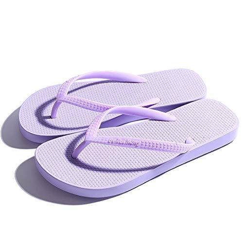 Ligeros De para Antideslizantes Playa Verano Chanclas Y Púrpura De Zapatos Mujer Wangcui q6w1vgUnW5