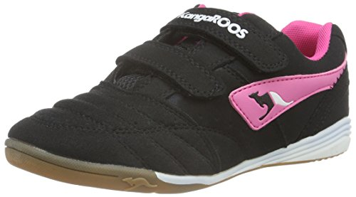 KangaROOS Power Court Ps - Zapatillas Unisex Niños Negro - Schwarz (black/magenta 565)