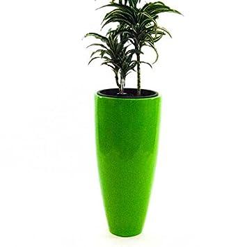 Pflanzkübel Blumenkübel Blumentopf Fiberglas rund konisch D38xH80cm ...