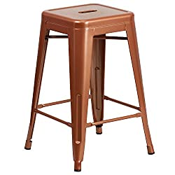 Flash Furniture 24'' High Backless Copper Indoor Outdoor Counter Height Stool