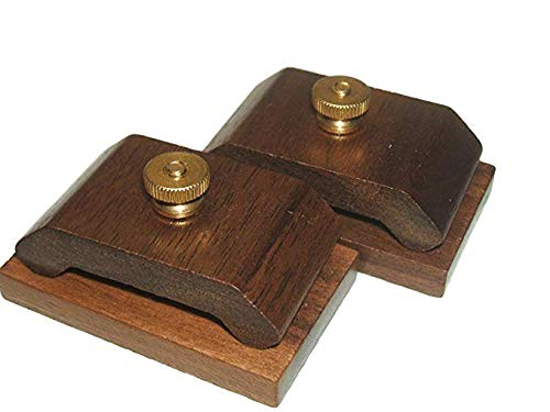 1 Pair Mini Walnut Hang-Ups Quilt Clamps Clips - Small