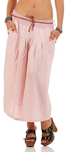 malito figure convivial t jupe avec ceinture Stretch mini midi 1571 Femme Taille Unique Rose