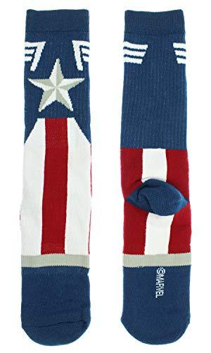 Marvel Captain America Mens Socks Costume Stars And Stripes Crew Sock 1 Pair - http://coolthings.us