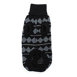 Uxcell Zig Rhombus Pattern Knitting Pet Dog Clothes Sweater, XX-Small, Gray/Black