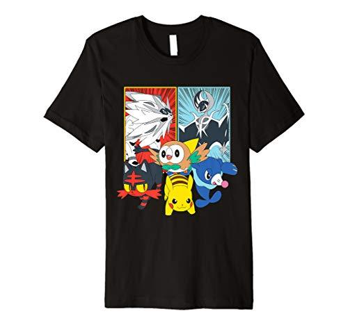 Alola Starters With Legendaries Premium T-Shirt (Pokemon T-shirt Tee)