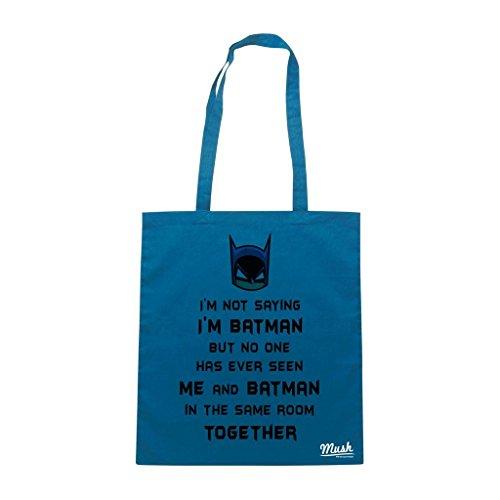 Borsa I'M Batman - Blu Royal - Funny by Mush Dress Your Style