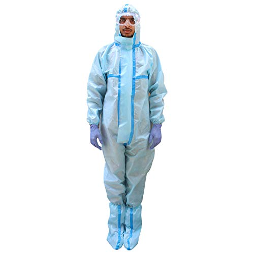 ORILEY ORPP03 PPE Kit with SITRA & DRDO Approved Coverall Suit, Safety Eye Goggles, Mask, Hand Gloves & Shoe Cover Disposable Personal Protective Equipment Combo Price & Reviews