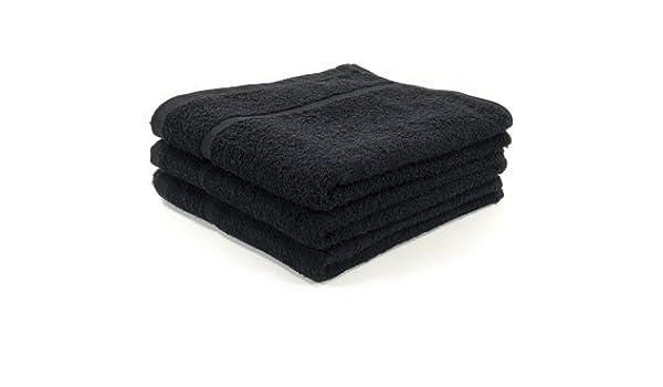 12 x negro paños de peluquería/de salón de toalla/paños de BEAUTY, 400GM, 50 x 85 cm: Amazon.es: Hogar
