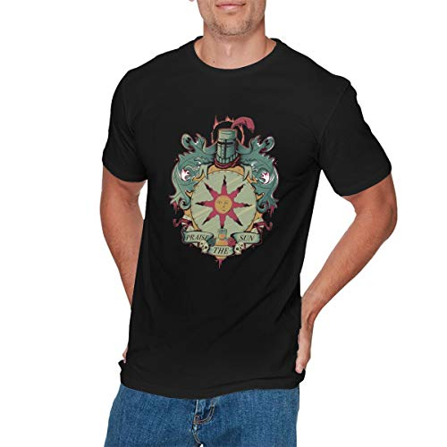 LIAM HENDERSON Mens Fashion Dark Souls Praise The Sun T Shirts S Black