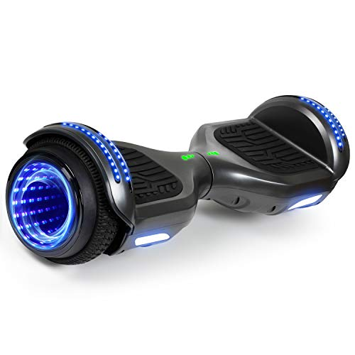 "SISIGAD Hoverboard, Bluetooth Hoverboard, 6.5"" Two-Wheel Self Balancing Hoverboard Flashing Tunnel Hoverboard"