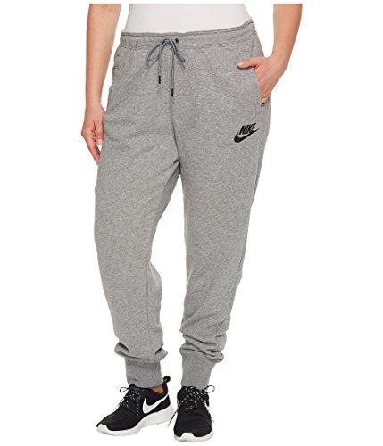 NIKE Womens Plus Logo Running Athletic Pants Gray 1X