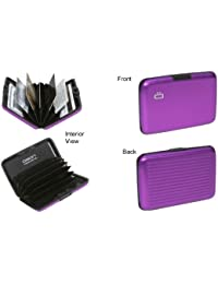 Ogon Aluminum Wallet Purple Credit Card Hard Case Sweden Rdif Blocking