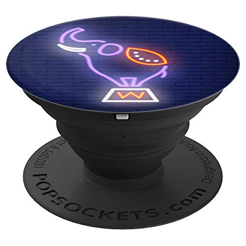 Neon Elephant Circus Funny Gift Idea - PopSockets Grip and Stand for Phones and Tablets -