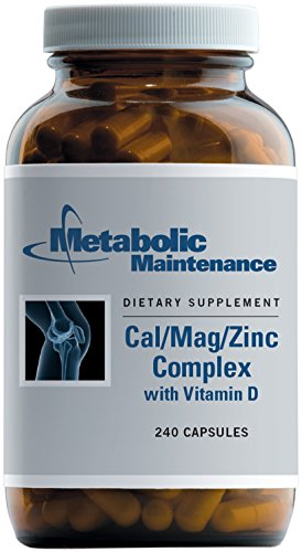 (Metabolic Maintenance - Cal/Mag/Zinc Complex with Vitamin D - High Absorption for Bone Support, 240 Capsules)