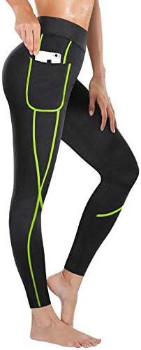 Rolewpy Women Neoprene Sauna Slimming Pants Hot Thermo Sweat Body Shaper Capri for Leggings 1