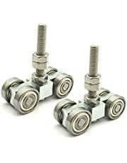 """RHKING 4 Wheel Trolley Assembly Roller Trolley 2Pcs Silent M10 Bolt for use with 1-5/8"""" Wide and All 1-5/8"""" or Taller Strut Channel"""