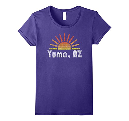 Womens Retro Yuma Arizona Sunrise Sunset Vintage T-Shirt Small - Sun Arizona Yuma Yuma