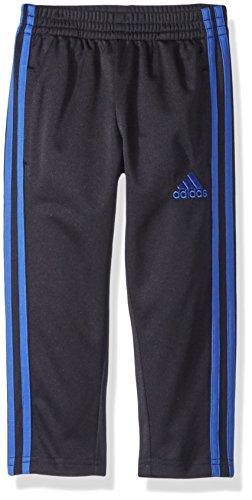 adidas Little Boys' Tricot Pant, Black/Blue, 5