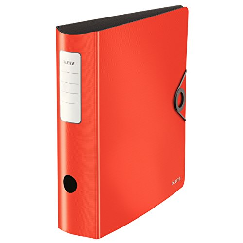 Leitz Quality Folder, 180° Active Solid Wide Light red